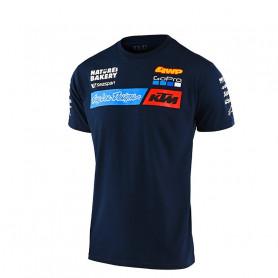 t-shirt-troy-lee-designs-ktm-team-navy-enfant