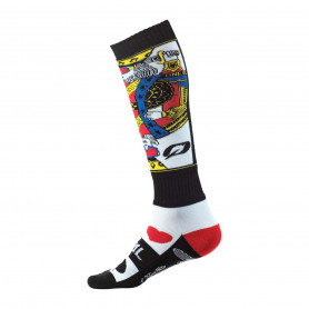 Chaussettes-de-Cross-ONEAL-Pro-MX-Kingsmen-White-Black-Red-Taille-Unique