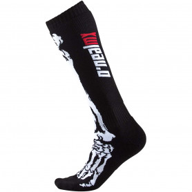chaussettes-de-cross-oneal-youth-xray-i-black-white