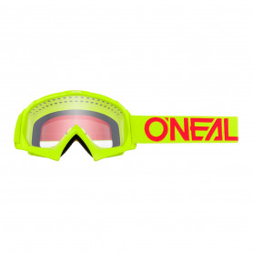 masque-cross-oneal-youth-b-10-solid-neon-yellow-red-clear