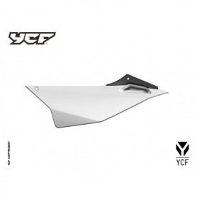 Plaque Latérale Gauche YCF Pilot & Factory 16 et + Blanc