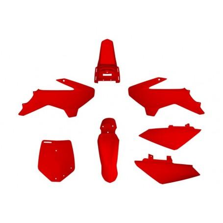Kit Plastique YCF 50 cc jusqu'a 2019 Rouge