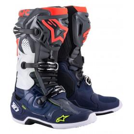 bottes-moto-cross-alpinestars-tech-10-gris-bleu-fonce-rouge-fluo