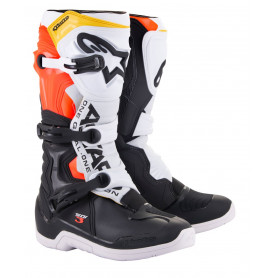 bottes-moto-cross-alpinestars-tech-3-noire-blanche-rouge-fluo-jaune