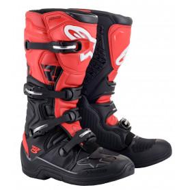 bottes-moto-cross-alpinestars-tech-5-noire-rouge