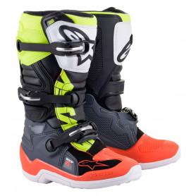 bottes-moto-cross-alpinestars-tech-7s-gris-fonce-rouge-fluo-jaune-fluo-enfant