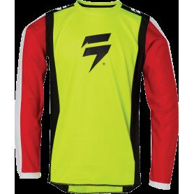 maillot-cross-shift-enfant-whit-3-label-race-jaune-fluo-rouge