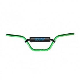 Guidon Aluminium YCF Avec Barre Diametre 22 mm Cintre Haut Green
