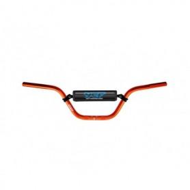 Guidon Aluminium YCF Avec Barre Diametre 22 mm Cintre Haut Orange