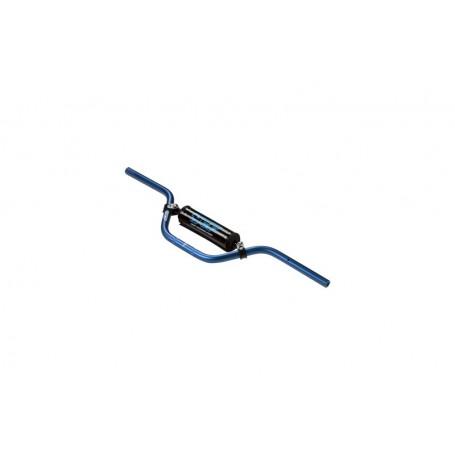 Guidon Aluminium YCF Avec Barre Diametre 22 mm Cintre Bas Blue