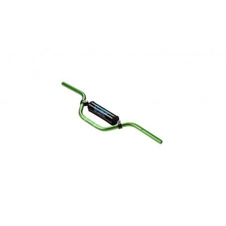 Guidon Aluminium YCF Avec Barre Diametre 22 mm Cintre Bas Green