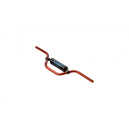 Guidon Aluminium YCF Avec Barre Diametre 22 mm Cintre Bas Orange