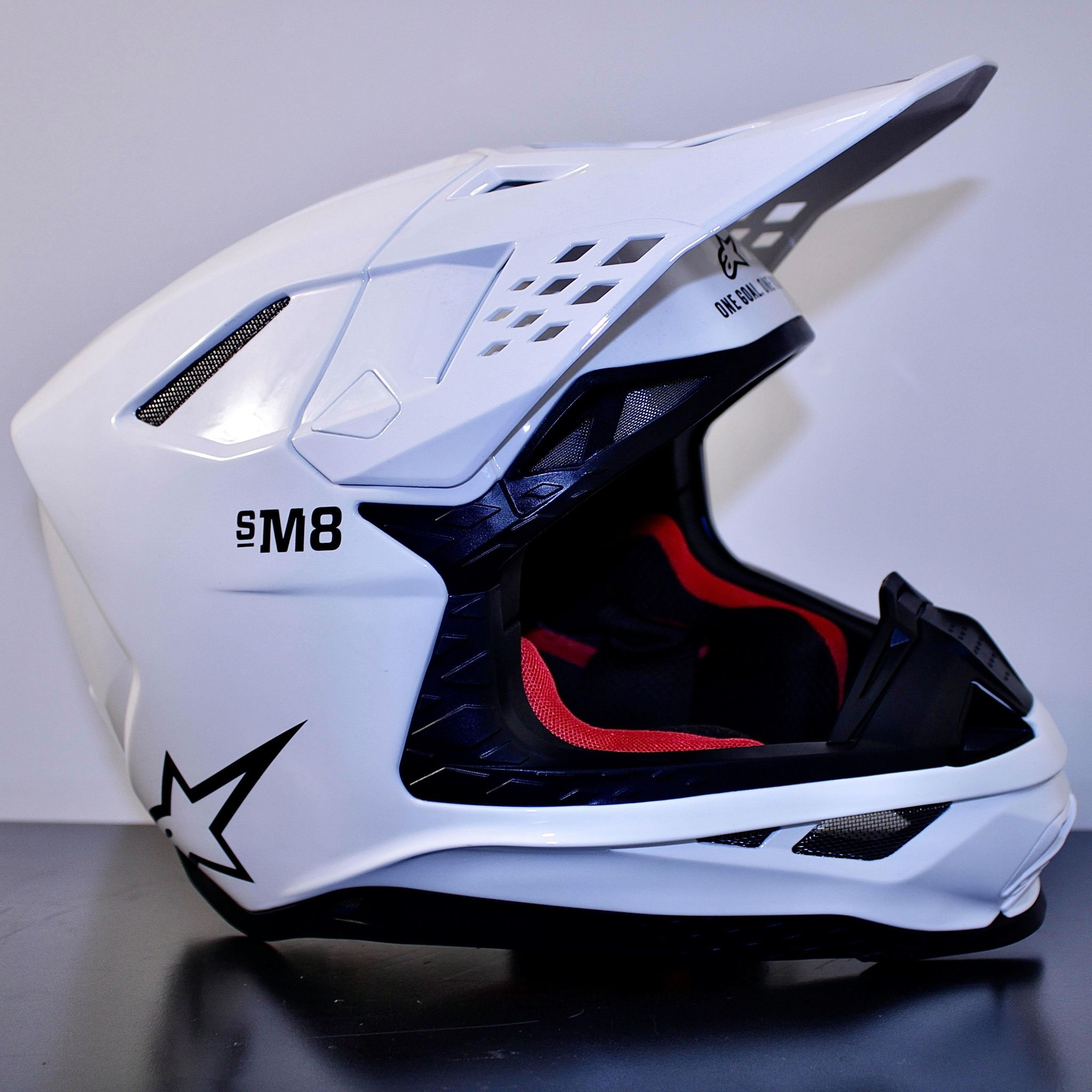 Casque Cross ALPINESTARS SM-8 Blanc Brillant 2021