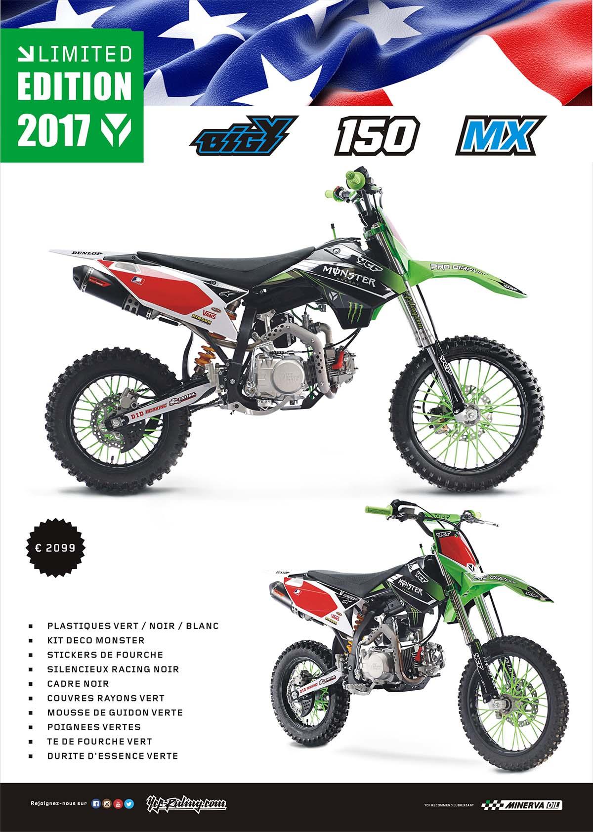 EQUIPEMENT YCF BIGY 150 MX MONSTER